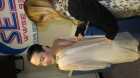Johnny Weir actually tries on the winning dress on Lee John's Say Yes to the Dress